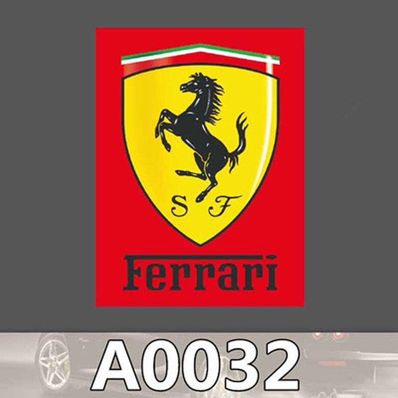 Ferrari Brand: Ferrari Brand Logo Vinyl Graffiti Sticker Skateboard