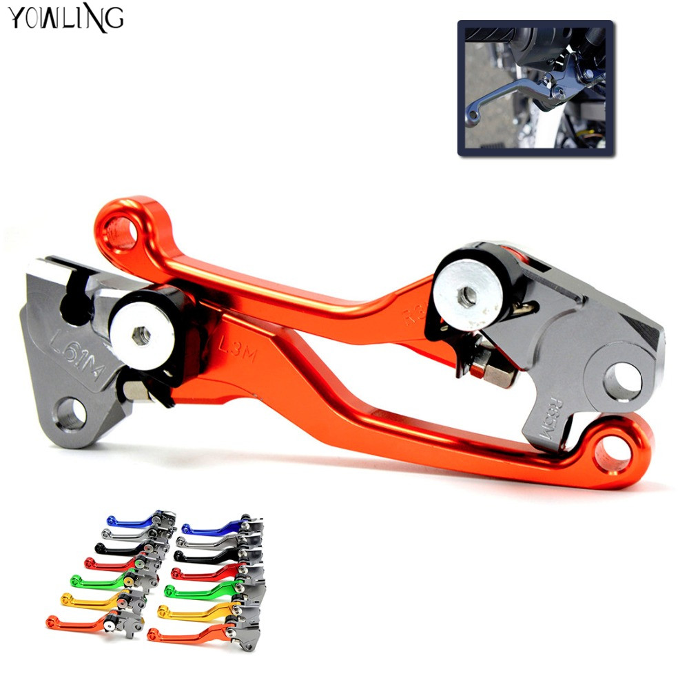 Motocross Dirt Bike Brake Clutch Lever For KTM 250EXC 2006 2007 2008 2009 2010 2011 2012 2013 Pivot Pit Bike Brake Clutch Handle motocross dirt bike enduro off road wheel rim spoke shrouds skins covers for yamaha yzf r6 2005 2006 2007 2008 2009 2010 2011 20