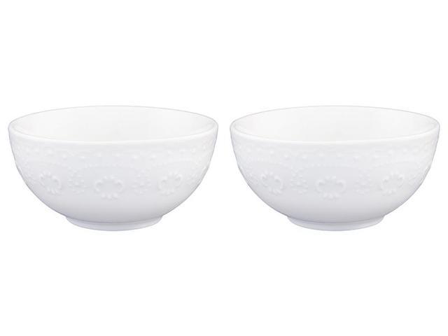 Набор салатников Elan gallery, Белый узор, 2 предмета