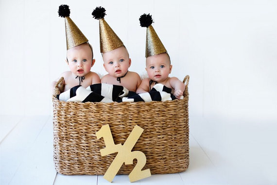Baby Photo Prop Wooden Half Sign Birthday, Half Sign 1/2, First Birthday Sign, Second, Etc. Age Numbers - Photography Prop