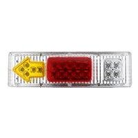 Universal 2PCs/Pair Car Truck Rear Tail Lights 19 LED Waterproof 12V Super Bright Indicator Signal Reverse Brake Stop Lamps