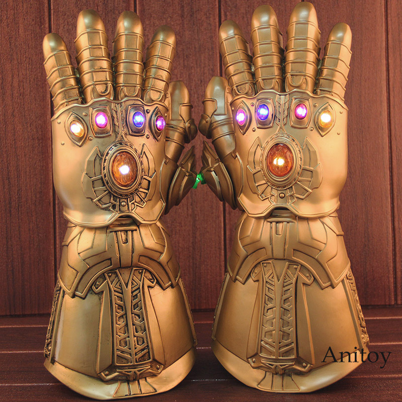 High Quality Avengers Infinity War Glove Cosplay Thanos Infinite Gloves with LED Light PVC Action Figure Collectible Model Toy 1