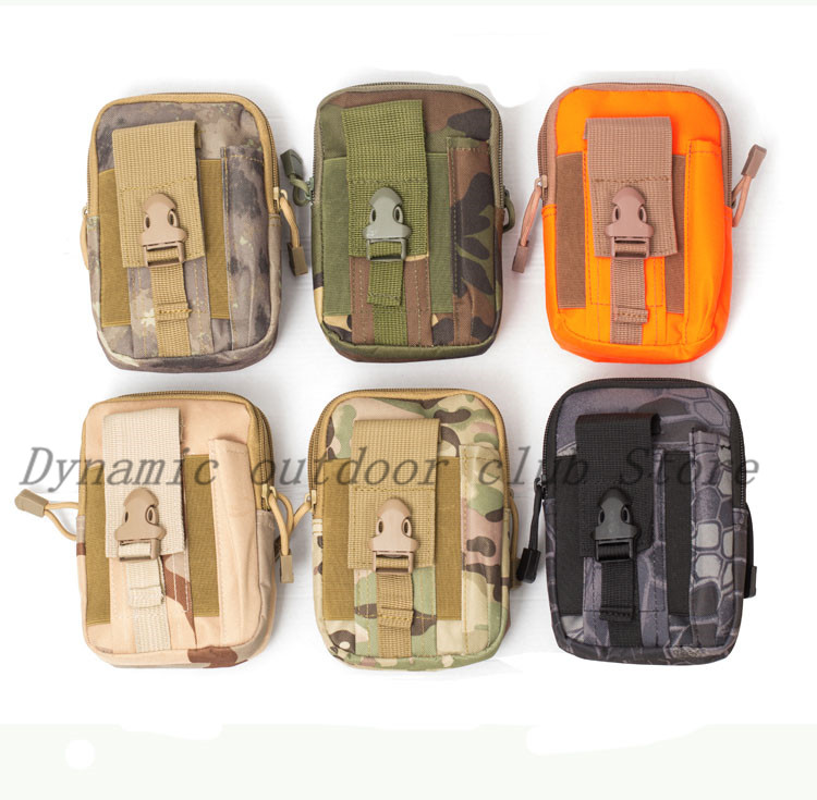 Men Tactical Molle Pouch Belt Waist Pack Bag Small Pocket Military Waist Pack Running Pouch Travel Camping Bags Soft back-in Hunting Gun Accessories from Sports & Entertainment