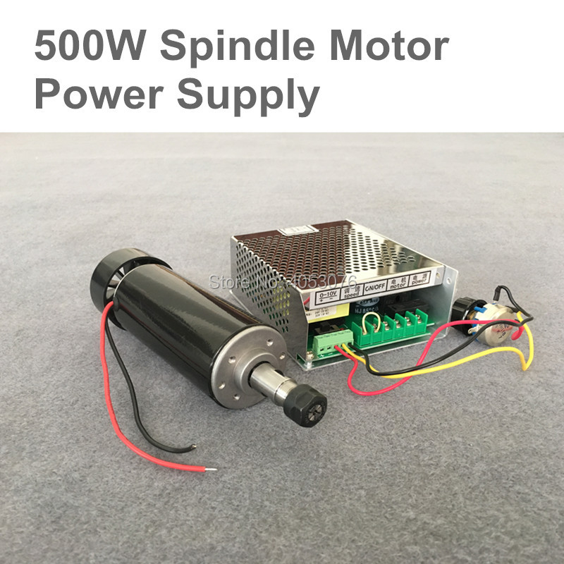 0.5KW 220 В с воздушным охлаждением шпинделя ER11 Колле ЧПУ 500 Вт шпинделя + 220 В/500 Вт Питание скорость губернатор для DIY гравировальный