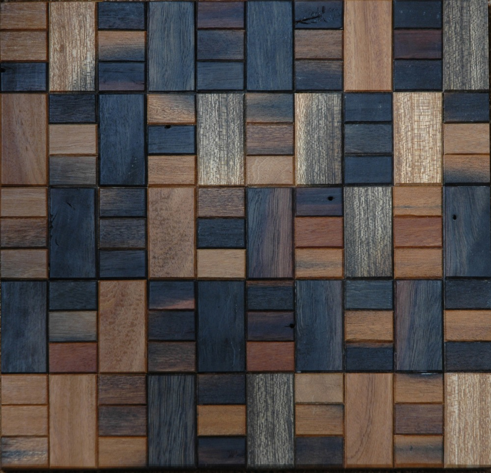 TST Wooden Mosaic Tiles For Wall Transitional Style Squared Wooden Wall Deco Backsplash Designs Kitchen Bathroom