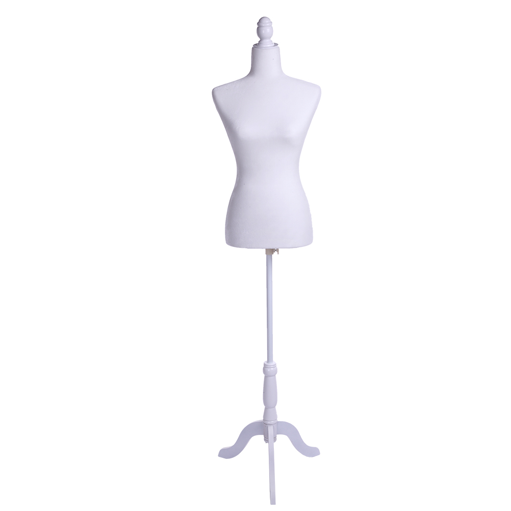 Robe blanche forme Mannequin corps femme en fibre de verre Mannequin buste pour l'affichage des vêtements SKU04737807