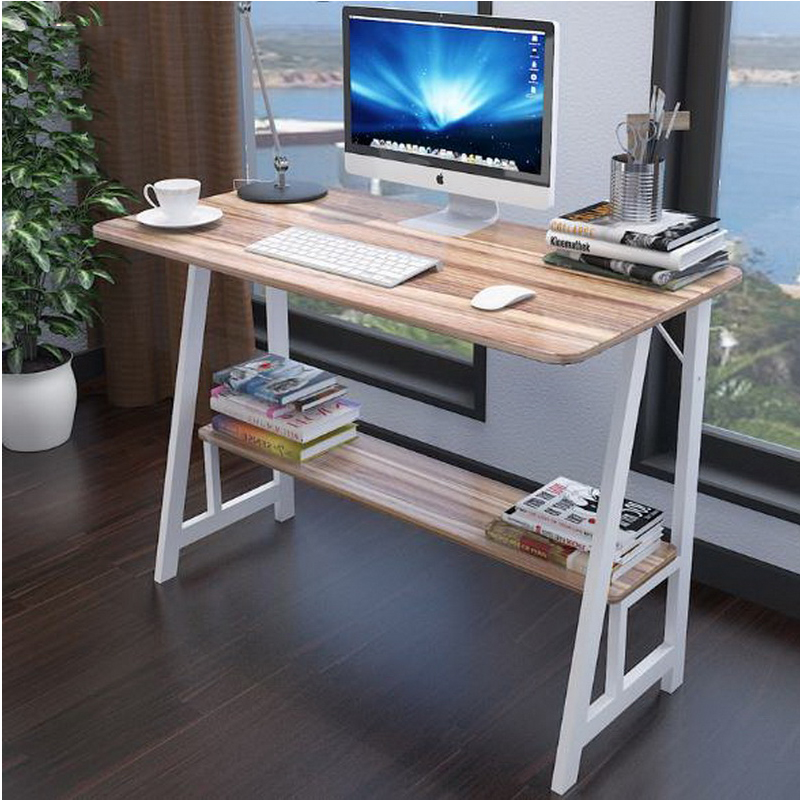 250603/Laptop desk / home modern simple desk / desktop computer desk /Wear thick plate/High quality carbon steel 250616 computer desk and desk style modern simple desk with bookcase desk simple table solder edge e1 grade sheet material