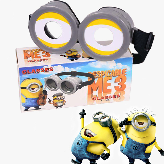 248c0f2dbe6 Plastic Pegman Glasses Despicable Me 3 Cartoon Toys For Children Cosplay  Minion Glasses Kids Toys Xmas Gifts Free Shipping
