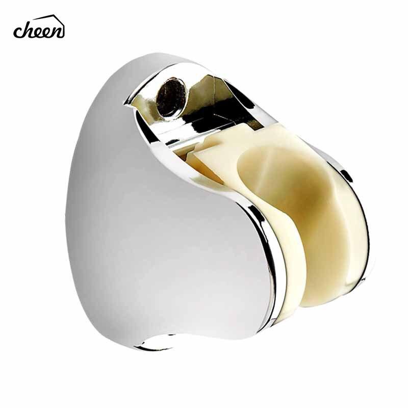Plastic Chrome Adjustable Bathroom Bidet Shower Head Sprayer Shattaf Wall Mounting Bracket Showerhead Holder Shower Head Bracket