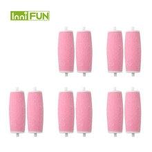10 шт инструмент для ухода за ногами розовый цвет головки pedi