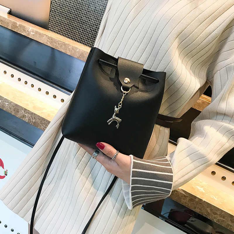 Herald Fashion Tas Wanita 2018 Baru Pola Kulit Wanita Kepribadian Fawn Single Bahu Tas Wanita Selempang Mobile Tas