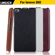For Lenovo S60 Case Flip Leather Back Cover Case for Lenovo S60 S60W S60-t Cover Protective Shell iMUCA Mobile Phone Bags Cases