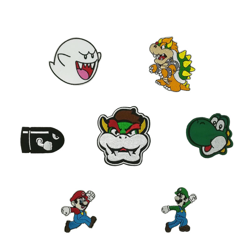 Us 2 03 30 Off Super Mario Brothers Bullet Comic Ghost Boo Yoshi Dinosaur Head Bowser Face Movie Tv Series Costume Embroidered Iron On Patch In
