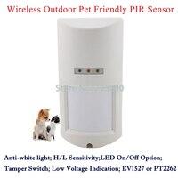 433MHZ Code1527 Wireless Outdoor Pet Friendly PIR Motion Detector Alarm Sensor For Wireless GSM PSTN Alarme