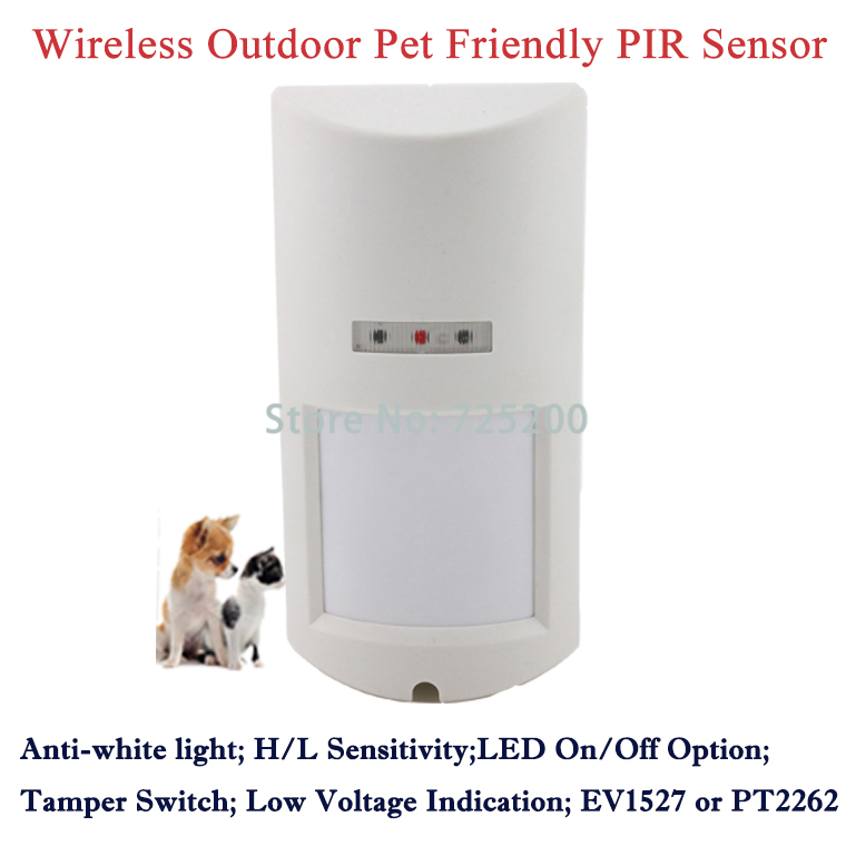 ФОТО 5pcs DHL ship Outdoor Wireless 4-Element Pet Immunity PIR Passive Infrared Intrusion Motion Detector Intrude Sensor Pet Friendly