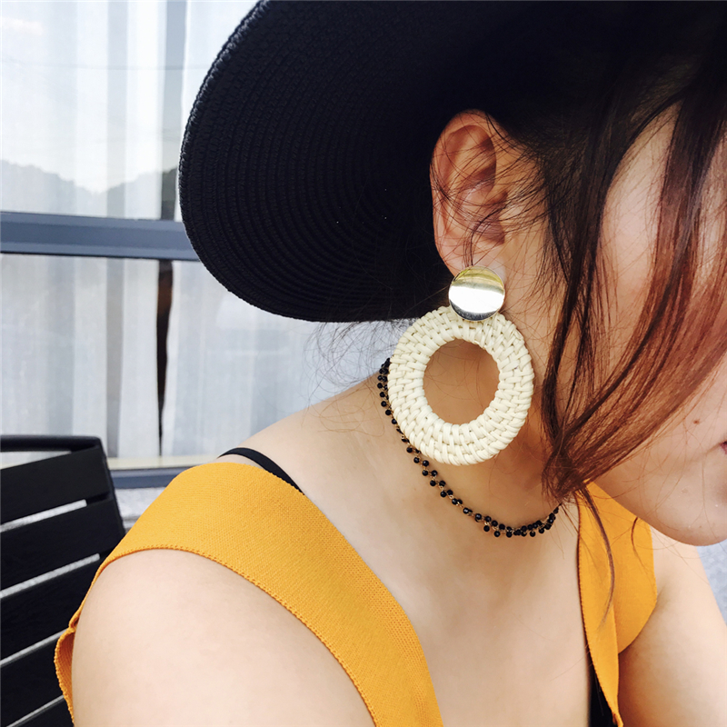 handmade wood earrings -