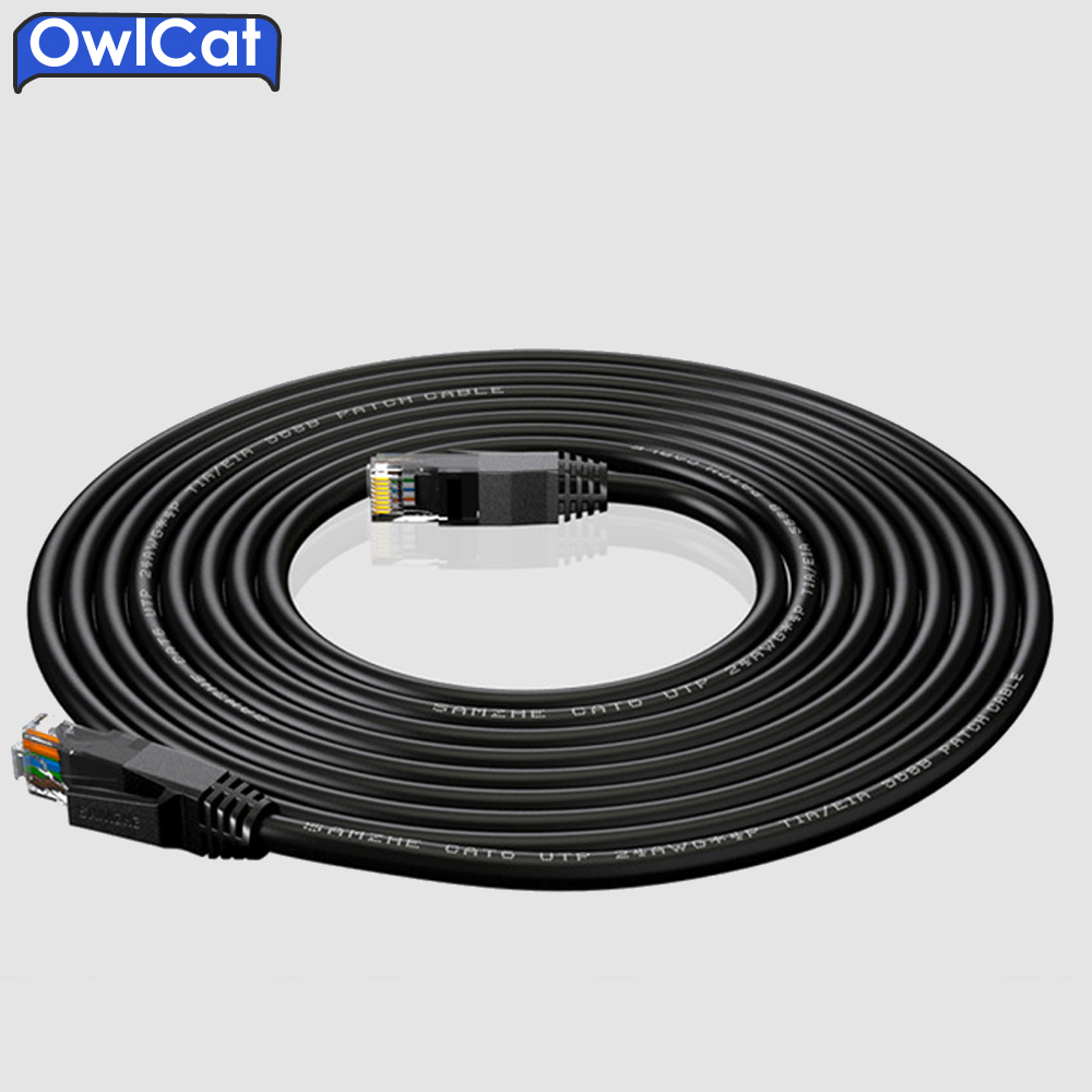 OwlCat 20 meters Ethernet Network Cable CAT6 UTP 24AWG*4P Outdoor High-speed RJ45 Extension Network Cable Camera line ecosin2 2017 universal usb utp extension adapter over single rj45 ethernet cat5e 6 cable up to 150ft high quality 17mar24