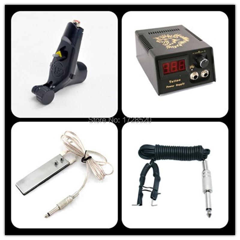 Beginner Tattoo Kit Ego Tatoo Machine LCD Power Supply  Foot Switch Clip Cord Tattoo Equipment Set Diy TATTOO KITS FREE SHIPPING protective pu leather case bag for fujifilm x100 brown