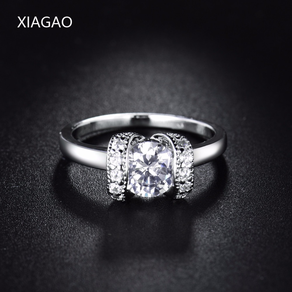 XIAGAO New Arrivals 2017 Fashion Womens Ring Finger Wedding Engagement Jewelry Ringen Anel Cubic Zirconia Rings Ladies XGR223