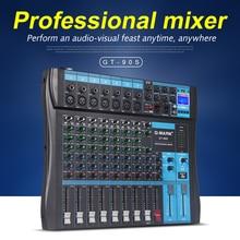 G-MARK GT90S аудио микшер с USB DJ звук микшерный пульт MP3 Jack 9 каналов караоке 48 в усилитель для караоке KTV Вечерние