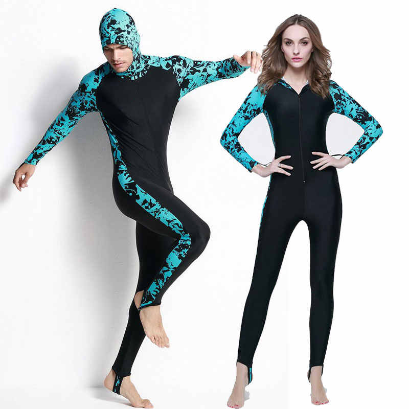 Women Full Body Scuba Surfing Suit Rash Guard Stinger Dive Skin Jumpsuit