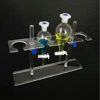 1PCS Organic Glass Seperating Funnel Stand PMMA Support Rack Lab Supplies 2holes or 4holes Pore size 45/55mm