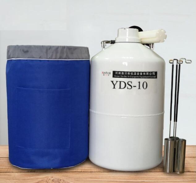 2 10L Liquid Nitrogen Container Cryogenic LN2 Tank Dewar with Straps Liquid Nitrogen Tank