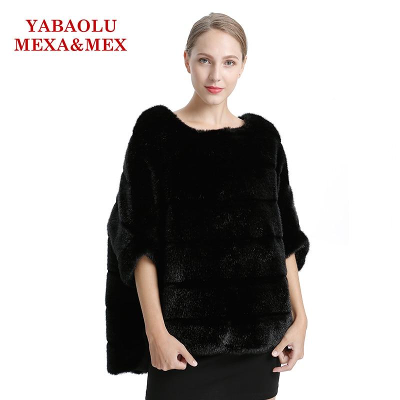 Faux Mink Fur Women Coat Autumn Winter Overcoat Black Faux Fur Coat Fashion Bat shirt Pullover Jackets Women Clothing Outerwear