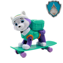 New Paw Patrol Everest Dog Skateboard Puppies Can Be Deformed Patrulla Canina PVC Doll Toys Action Figure Model