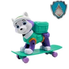 Paw patrol dog toy paw everest skateboard Anime action figure children Puppy birthday set gift