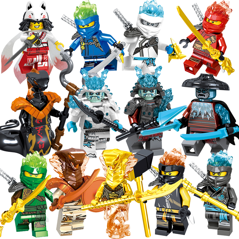 1pcs Ninja Kai Cole Jay Zane Lloyd Nya Mini action Figures Building Blocks Kids Toy Gift