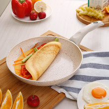 цены 24cm Thicken Flat Health Maifan Stone Pan Non-stick Steak Frying Pan Fried Egg pots and pans Induction Cooker Universal 254