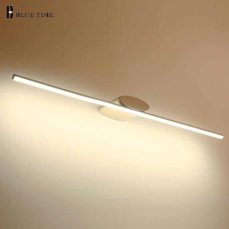 Modern Sconce Led Wall Light Bathroom Lamp White Frame Led Wall Lamp For Bathroom Mirror Front Light AC110V 220V 100 80 60 40cm