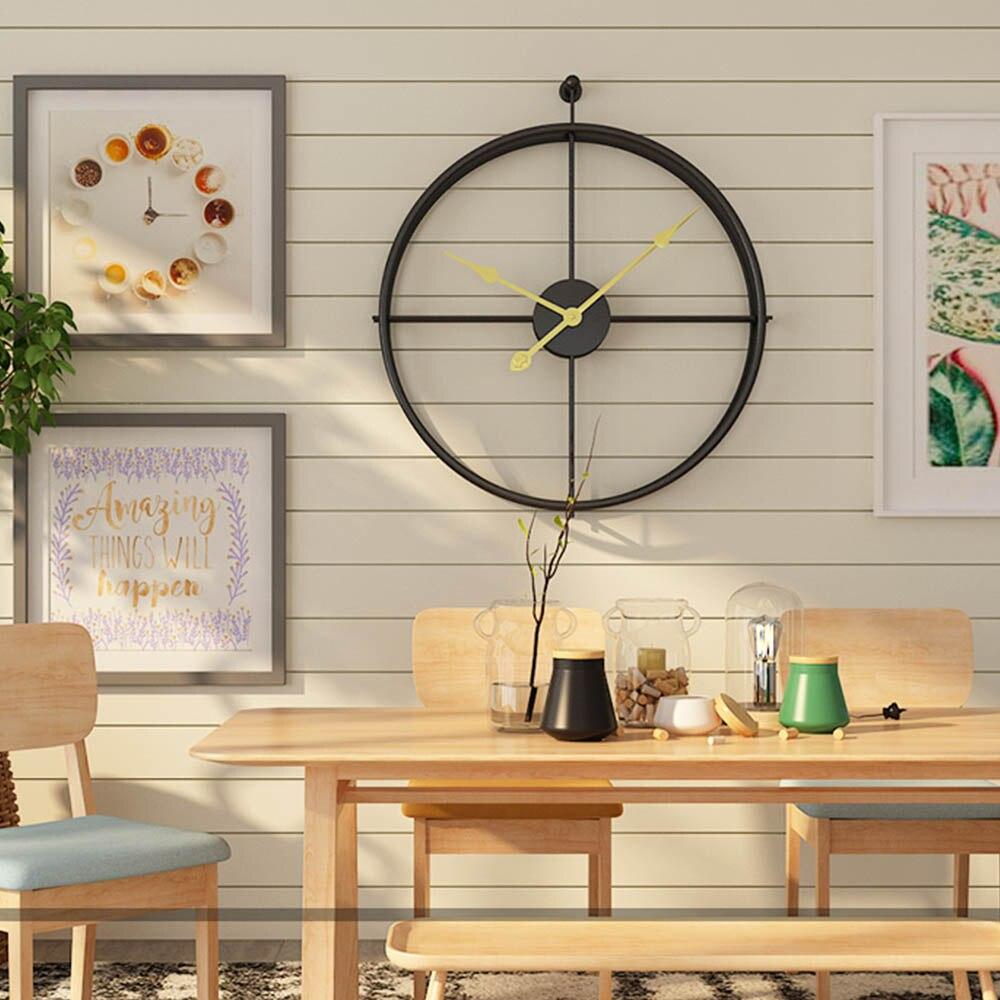 Europejski styl cichy, ścienny zegar nowoczesny Design dla Home Office dekoracyjne wiszące duży krótkie ścienne zegarek zegary