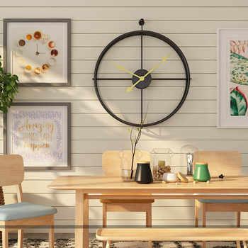 Europejski styl cichy, ścienny zegar nowoczesny Design dla Home Office dekoracyjne wiszące duży krótkie ścienne zegarek zegary - DISCOUNT ITEM  40 OFF All Category