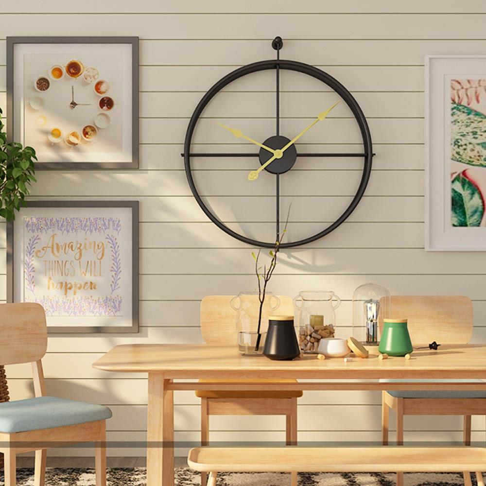 Horloge murale silencieuse de Style européen Design moderne pour bureau à domicile décoratif suspendu grandes horloges de montre murale brève