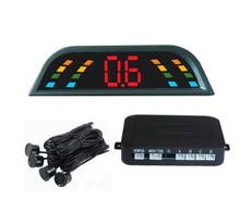12V Cars Sensor De Estacionamento Reverse Assistance Backup Radar Monitor System Universal Car LED Parking Sensor With 4 Sensors
