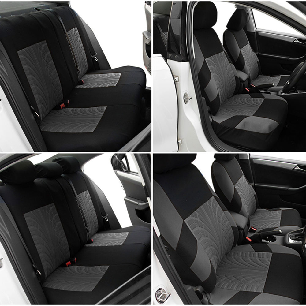 Universal Car Seat Covers 1 Sets Front Rear Seat Protector Upholstery Luxury 100 Polyester Cloth 3mm Foam Filling Car Seats Automobiles Seat Covers Aliexpress