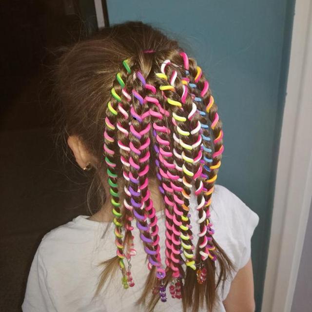 Girl's Rainbow Elastic Hair Band