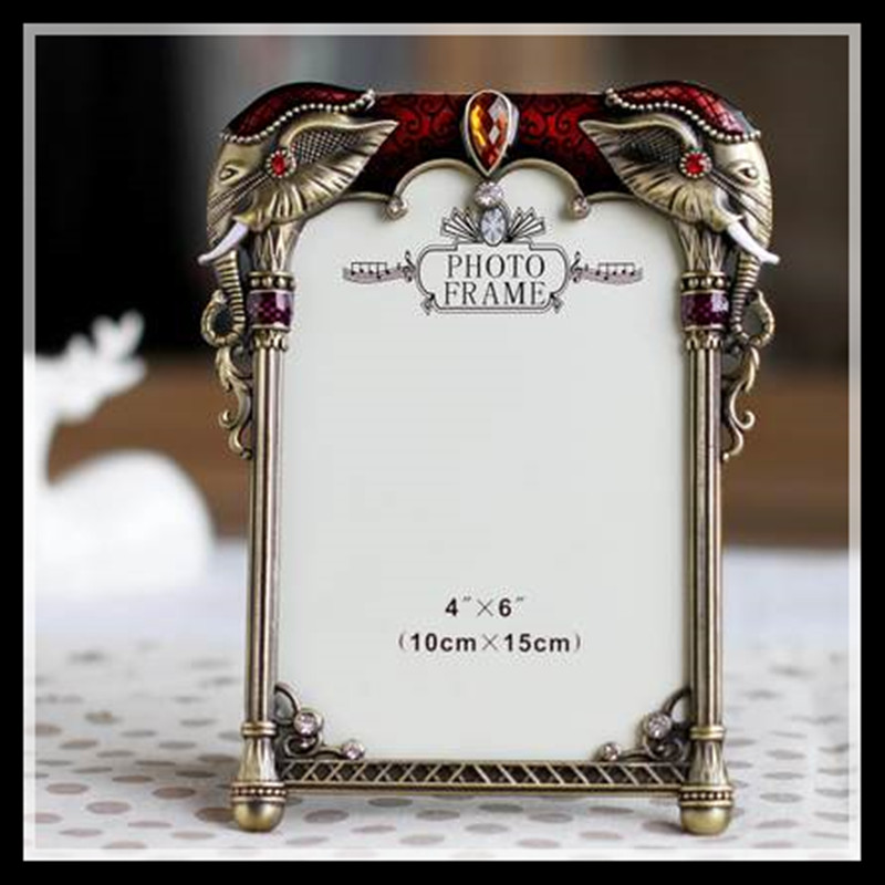 elimelim 4x6 inch high quality european classical metal photo frame vintage picture frames free shipping