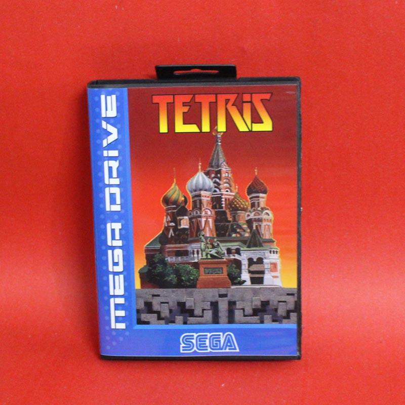 Tetris 16 bits MD tarjeta con la caja Al Por Menor para el sistema de la consola