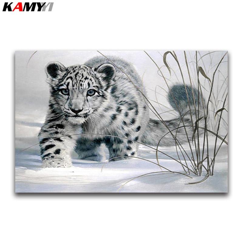 Cross stitch chart-KIT Snow Leopard
