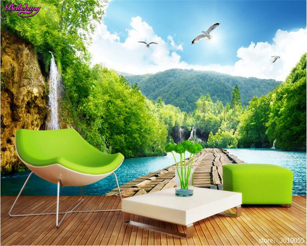 beibehang style of the high quality wallpaper scenery waterfall