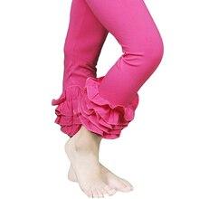2016 cotton retail red Children full length font b girl b font kid ruffle pants legging