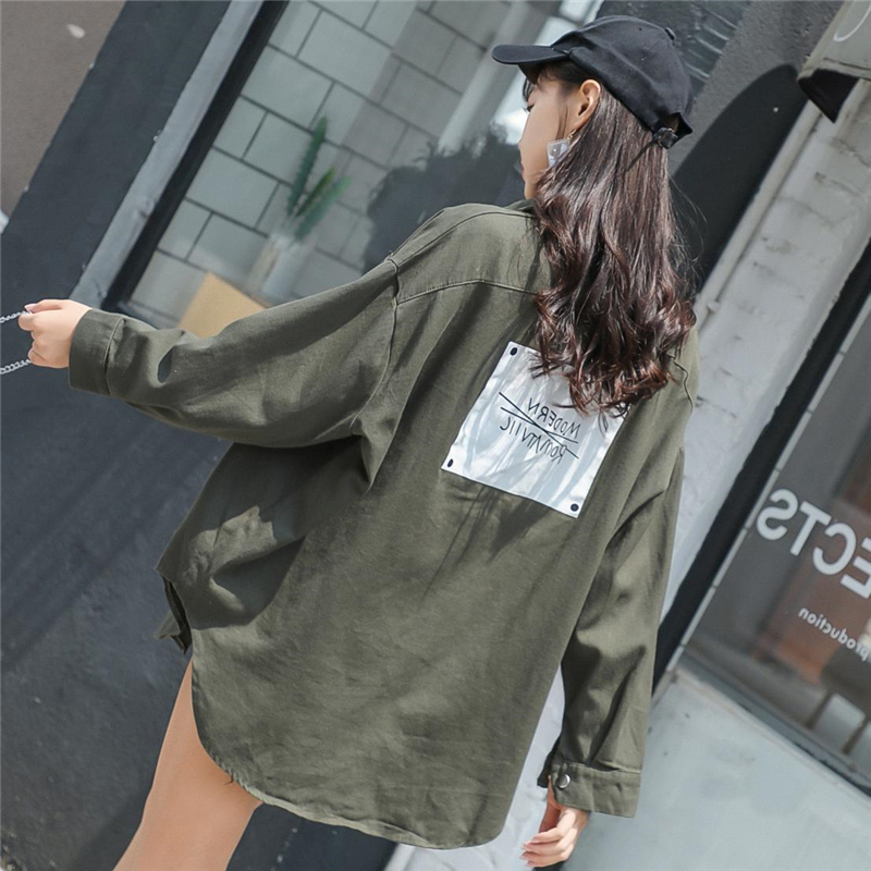 2018 De Mode Nouvelle Black La Ljj0131 Patch Femmes Chaud Femme Bf green Taille Plus Automne Lâche Designs Lettre Printemps Veste Manteau Tops Style yellow rWn0AqwYr