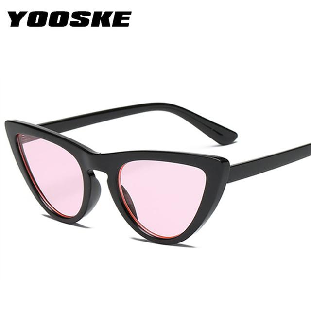 YOOSKE Retro Sexy Cat eye Sunglasses Women Brand Designer Vintage Cateyes Sun glasses Fashion Female Glasses UV400