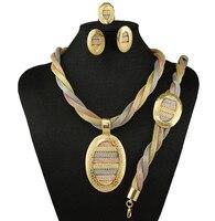 Monili africani set di gioielli da sposa set di gioielli d'oro africano set di alta qualità branelli dei monili fissa il trasporto libero