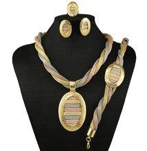 Sistemas de la joyería africana set joyería de la boda africana conjunto de joyas de oro de alta calidad perlas de la joyería fija el envío libre