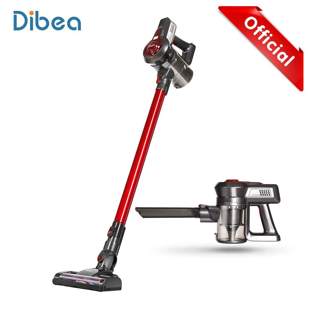 Dibea C17 portátil 2 In1 inalámbrico de mano colector de polvo aspirador doméstico con estación barredora