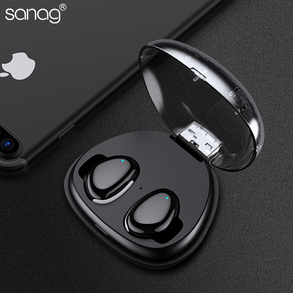 17e9a37c5c1 2017 Newest Sanag Real Wireless Bluetooth Headset In Ear Waterproof Anti  shedding Earphone Stereo Noise Cancelling Air p -in Earphones & Headphones  from ...